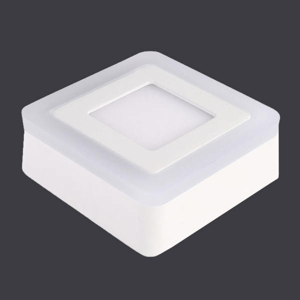 6W +3 Round Square LED Panel Light Aluminum Die